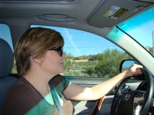 Lisa driving